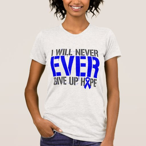 Huntington Disease I Will Never Ever Give Up Hope T Shirt