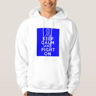 Huntington Disease Keep Calm and Fight On Hooded Sweatshirt