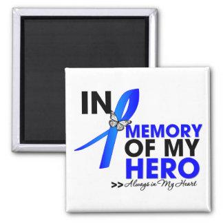 Huntington Disease Tribute In Memory of My Hero 2 Inch Square Magnet