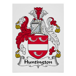 Huntington Family Crest Poster