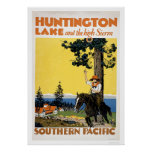 Huntington Lake and the Sierras Poster