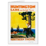Huntington Lake Promotinal Poster Greeting Card
