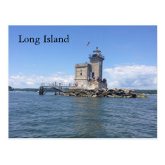 Huntington Lighthouse Postcard at Zazzle