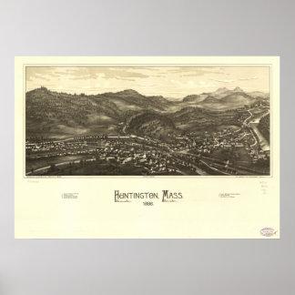 Huntington Massachusetts 1886 mA panorámico Póster