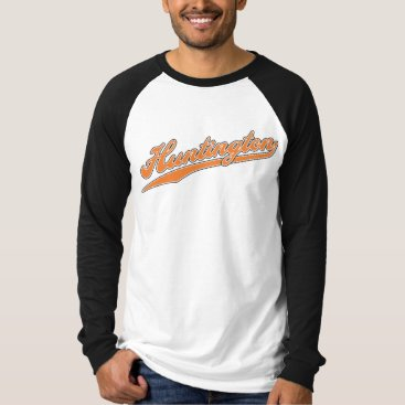 Beach Themed Huntington Script T-Shirt