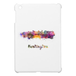 Huntington skyline in watercolor cover for the iPad mini