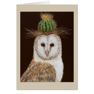 Huntington the owl greeting card