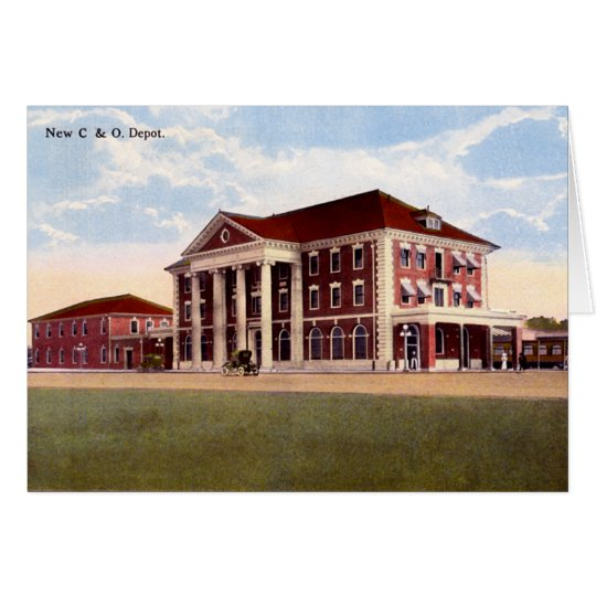 Huntington West Virginia C & 0 Depot Card