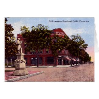 Huntington West Virginia Fifth Avenue Hotel Card