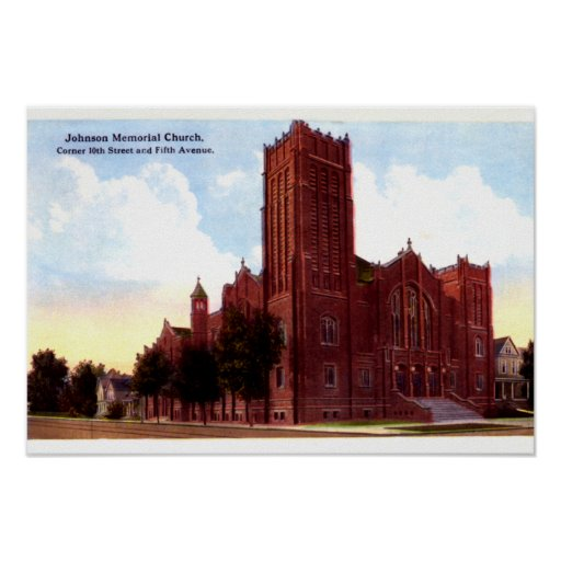 Huntington West Virginia Johnson Memorial Church Poster