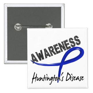 Huntington's Disease Awareness 3 Button