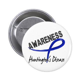 Huntington's Disease Awareness 3 Pinback Button