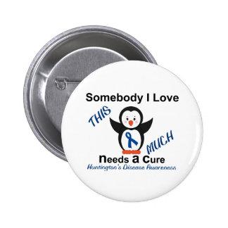 Huntington's Disease Awareness Someone I Love Pinback Button