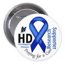 Huntington's Disease HD Awareness Research Support Button