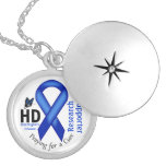 Huntington's Disease HD Awareness Research Support Round Locket Necklace