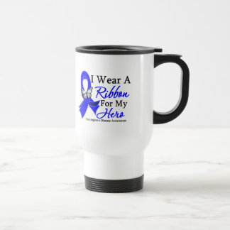 Huntington's Disease I Wear a Ribbon For My Hero Travel Mug