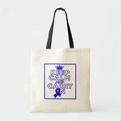 Huntington's Disease Keep Calm and Carry ON Bag