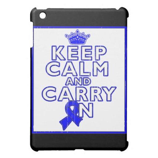 Huntington's Disease Keep Calm and Carry ON iPad Mini Cases