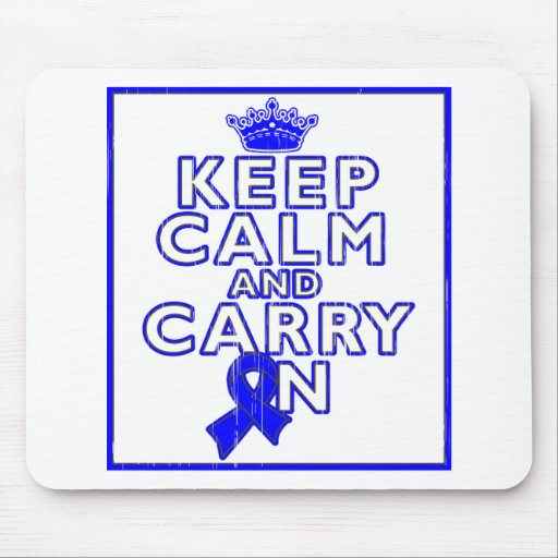 Huntington's Disease Keep Calm and Carry ON Mouse Pads