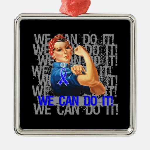 Huntington's Disease Rosie WE CAN DO IT Christmas Tree Ornament