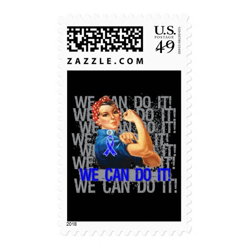 Huntington's Disease Rosie WE CAN DO IT Stamps