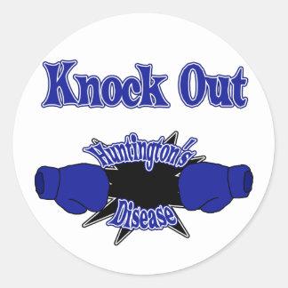 Huntington's Disease Classic Round Sticker