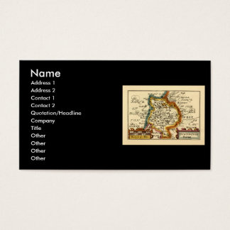 """Huntingtonshire"" Huntingdonshire County Map Business Card"