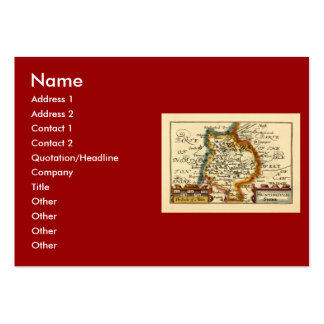 """""""Huntingtonshire"""" Huntingdonshire County Map Large Business Cards (Pack Of 100)"""