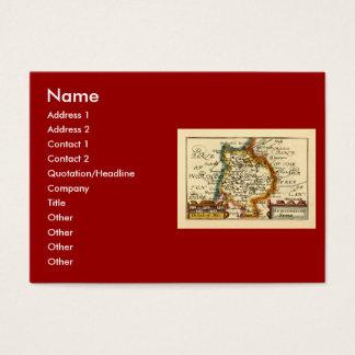"""Huntingtonshire"" Huntingdonshire County Map Business Card"