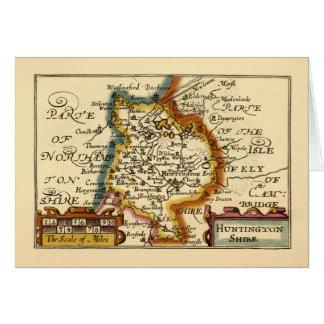 """Huntingtonshire"" Huntingdonshire County Map Greeting Card"