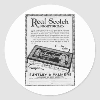 Huntly and Palmers auld lang syne shortbread Round Sticker