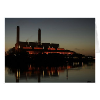 Huntly Power Station at night card