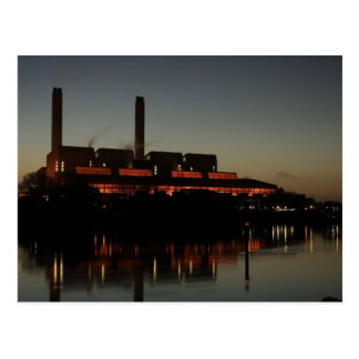 Huntly Power Station at night Postcard