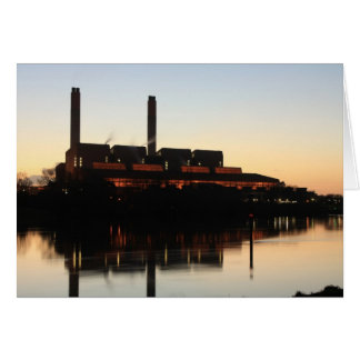 Huntly Power Station at sunset card