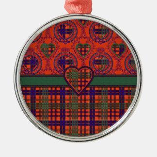Huntly Scottish tartan Round Metal Christmas Ornament
