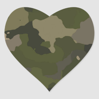 Huntress Camo Heart Sticker