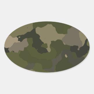 Huntress Camo Oval Sticker