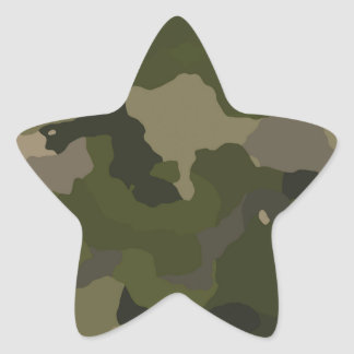Huntress Camo Star Sticker