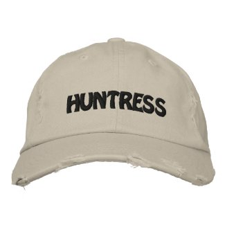HUNTRESS EMBROIDERED HAT