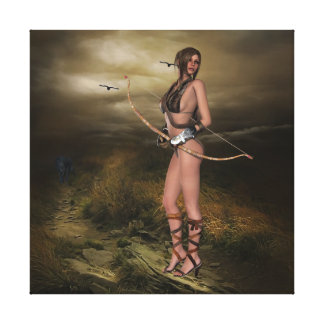 Huntress on Canvass Stretched Canvas Prints