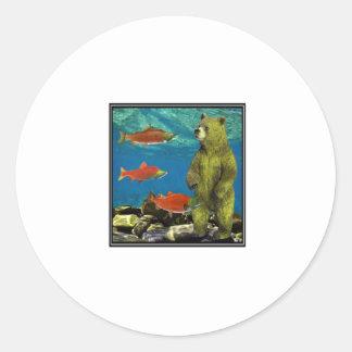 Huntress up Stream Classic Round Sticker