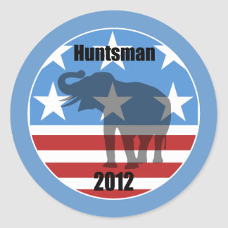 Huntsman 2012 classic round sticker