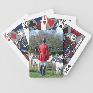 Huntsman and his hounds opening day bicycle playing cards