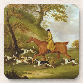Huntsman and Hounds, 1809 (oil on canvas) Beverage Coasters