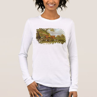Huntsman and Hounds, 1809 (oil on canvas) Long Sleeve T-Shirt