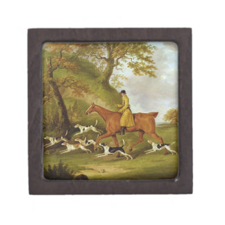 Huntsman and Hounds, 1809 (oil on canvas) Premium Trinket Boxes