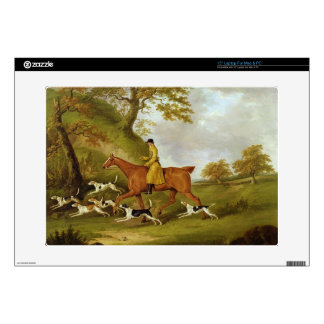 """Huntsman and Hounds, 1809 (oil on canvas) 15"""" Laptop Decal"""
