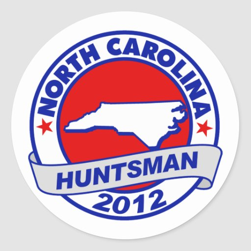 Huntsman de Carolina del Norte Jon Pegatina Redonda