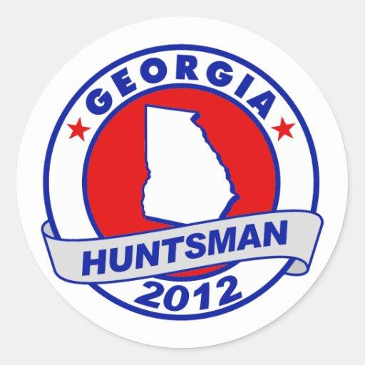 Huntsman de Georgia Jon Pegatinas Redondas