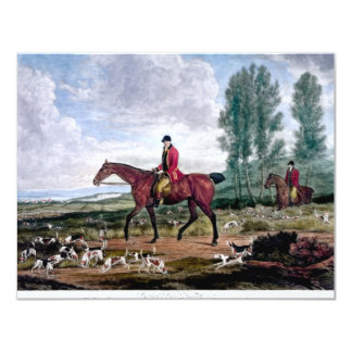 Huntsman to his majestys harriers card